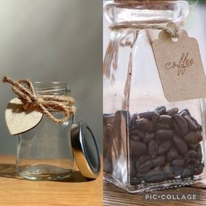 Mini Vintage Mason Jar With Heart Label And String